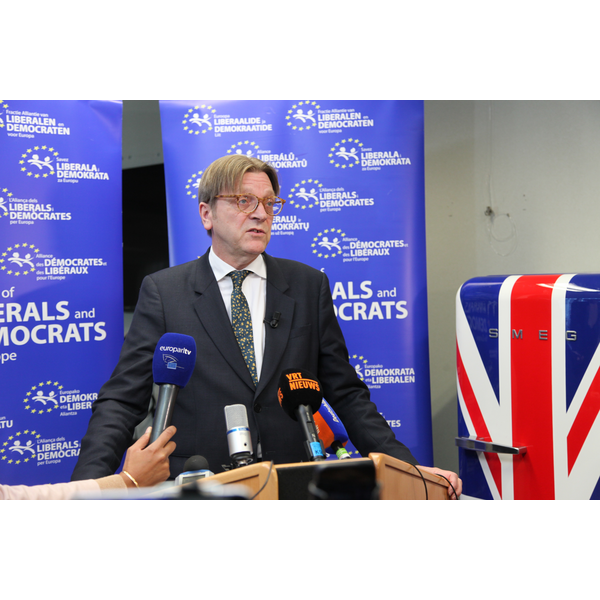 Guy Verhofstadt, leader of ALDE, and a European Parliament negotiator on the UK's membership of the EU (image©ALDEgroup2016)
