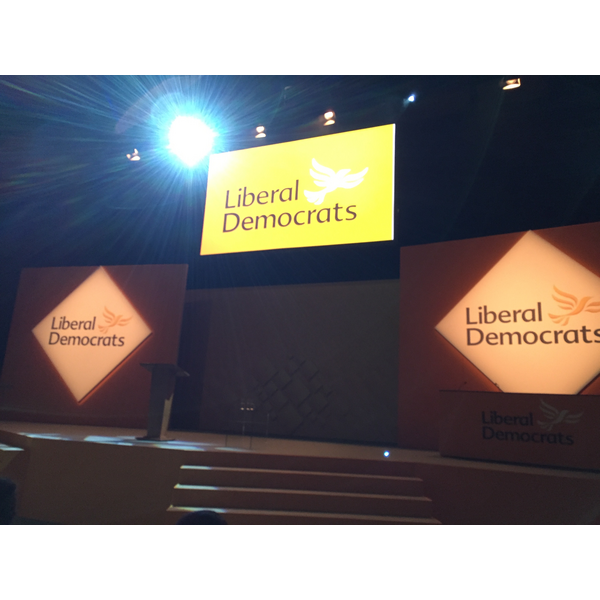 Lib Dem conference stage