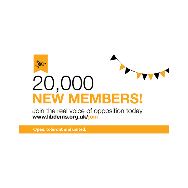 20,000 new members: Join the real voice of opposition today