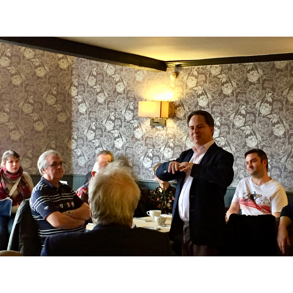 Brexit Breakfast with Suffolk Coastal Liberal Democrats (James Sandbach speaking)