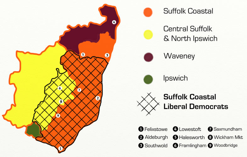 Suffolk Coastal Liberal Democrats and parliamentary constituencies