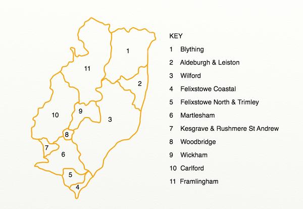 County electoral divisions in Suffolk Coastal