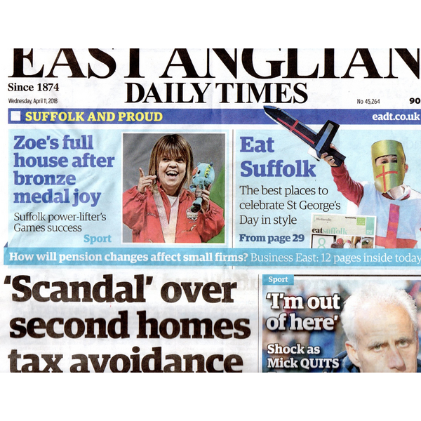 Eadt front page second Homes