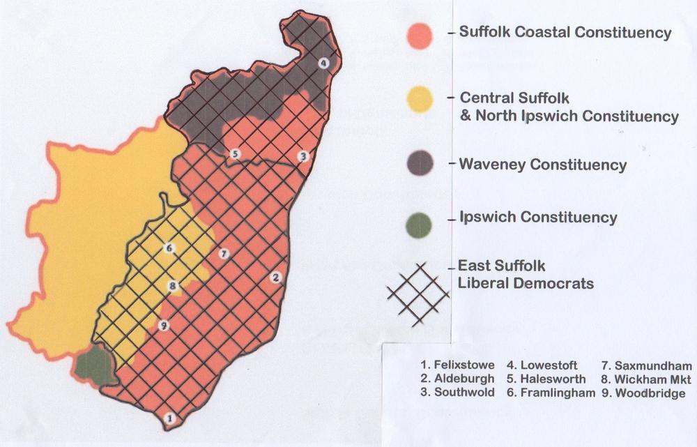Suffolk constituencies