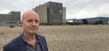 Andrew T at Sizewell beach (East Suffolk Lib Dems)