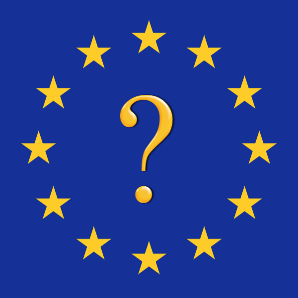 EU flag with question mark