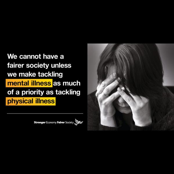 Lib Dem mental health poster from 2014