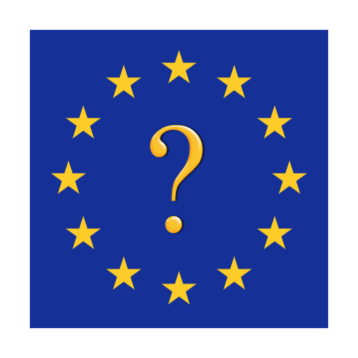 EU flag with question mark