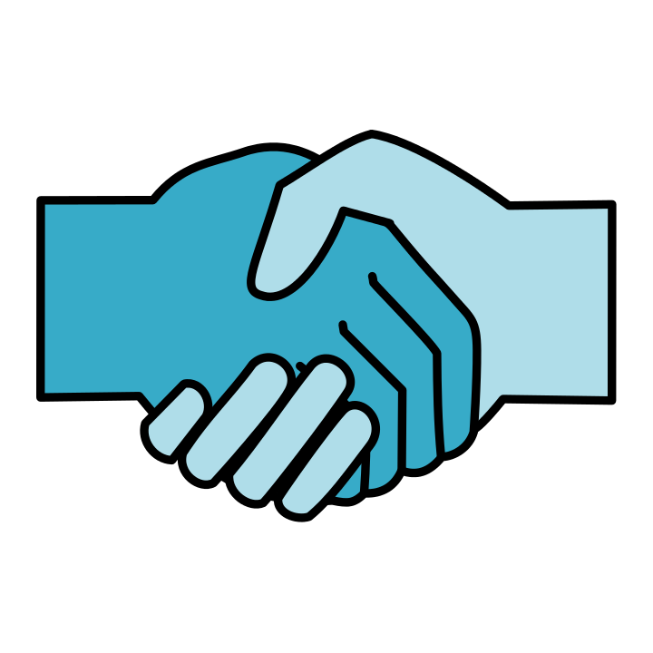 Handshake (collaboration) (By Berdea (Own work based on: File:Handshake icon.svg) [CC BY-SA 3.0 (http://creativecommons.org/licenses/by-sa/3.0)], via Wikimedia Commons)