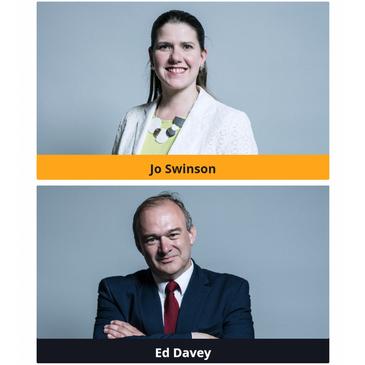 Jo Swinson and Ed Davey