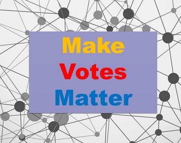 Make votes matter - proportional representation