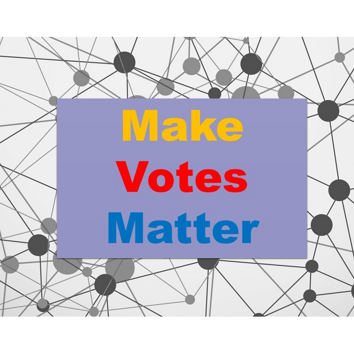 Make votes matter - proportional representation